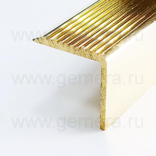 Порог угловой латунный для ступеней Cezar BR-V20/20