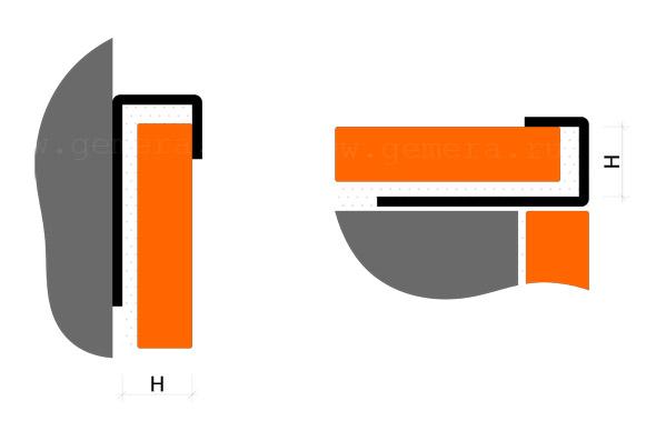 J-раскладка для кафельной плитки Fezard ST-JL10