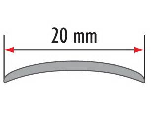 Порог алюминиевый для пола Fezard AL-С20