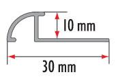 Профиль латунный овальный Cezar BR-PS10