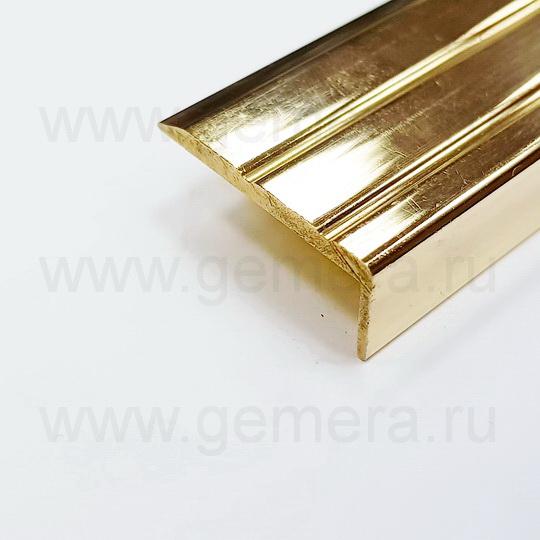 Порог угловой латунный для ступеней Cezar BR-V25/10