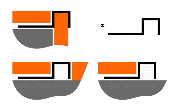 Раскладка для кафельной плитки Fezard ST-PU10