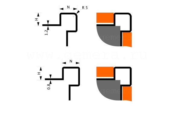 Антивандальный закладной угол Fezard ST-W