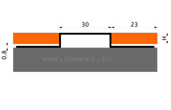 Сатинированная вставка Fezard ST-UL30