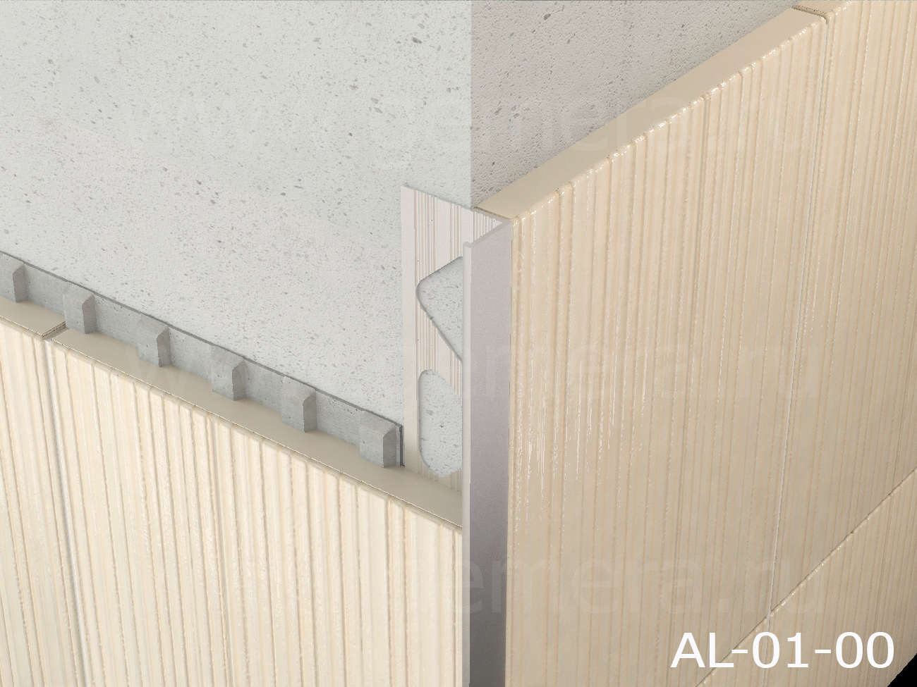 Угловая раскладка для кафельной плитки Butun AL-01-00
