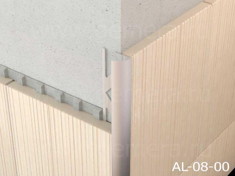 Угловая раскладка для кафельной плитки внешняя Butun AL-08-00