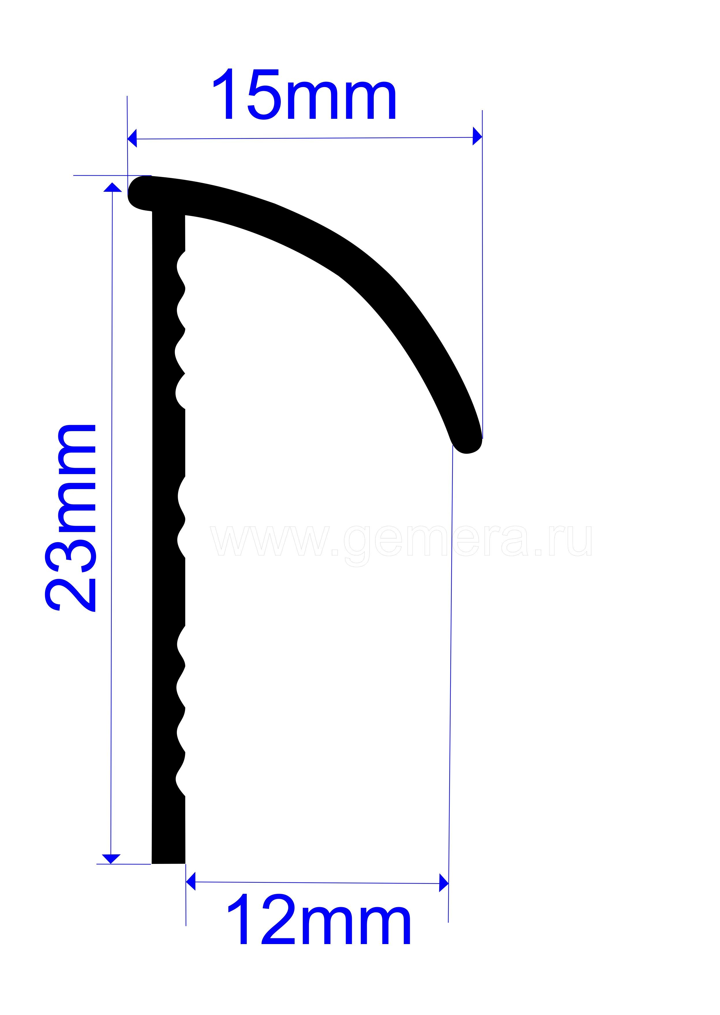 Угловая раскладка для кафельной плитки С-образная Butun AL-15-00