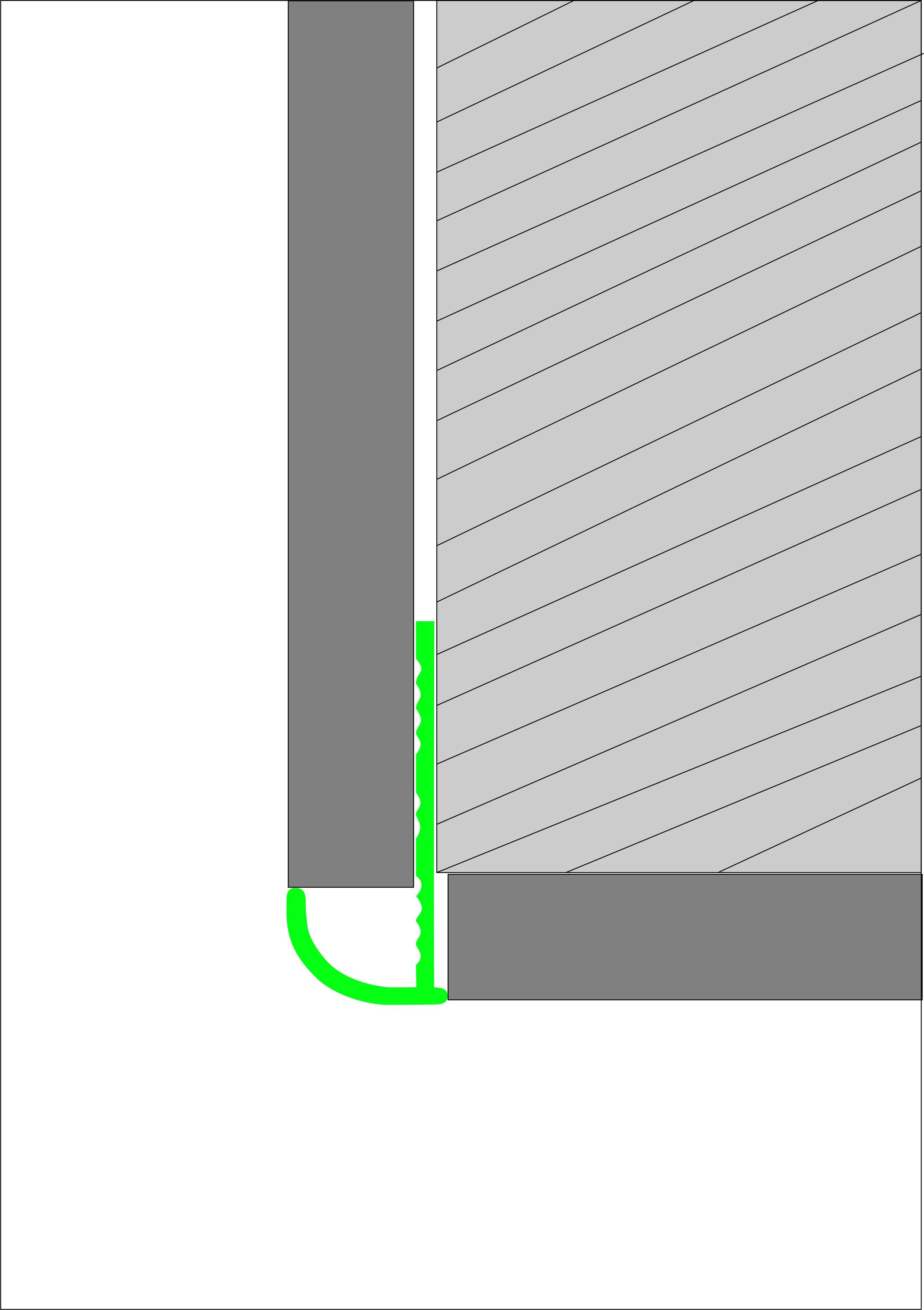 Угловая раскладка для кафельной плитки Butun AL-24-00