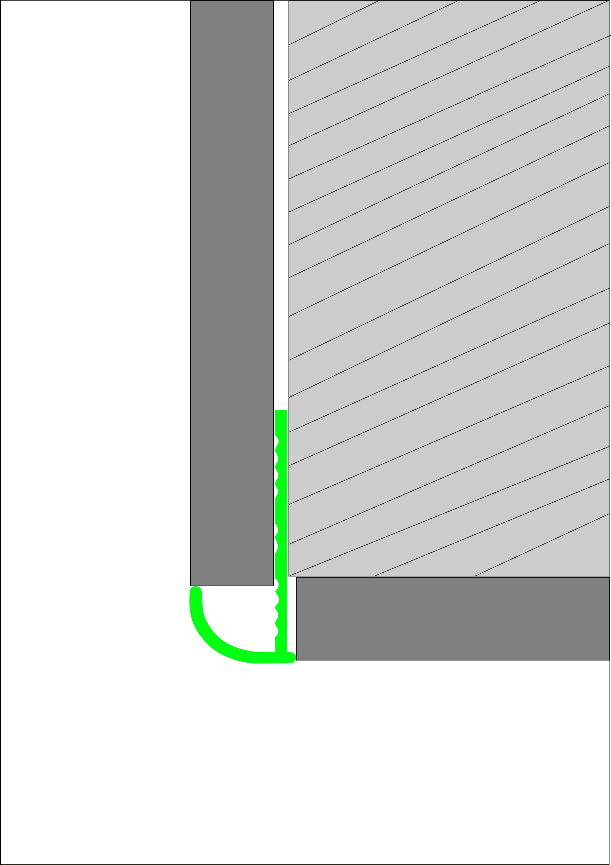 Угловая раскладка для кафельной плитки гибкая Butun AL-27-02