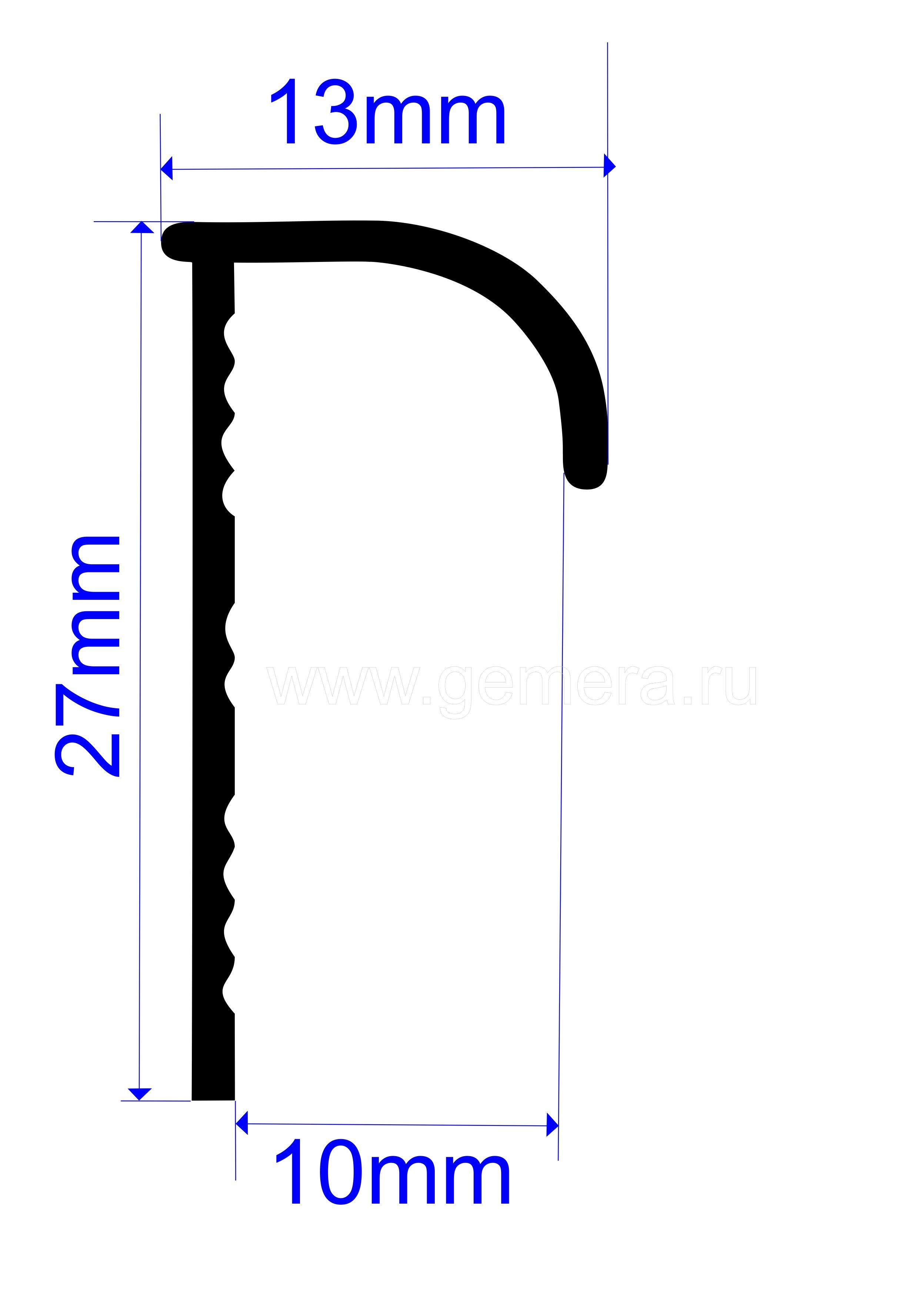 Угловая раскладка для кафельной плитки Butun AL-23-00