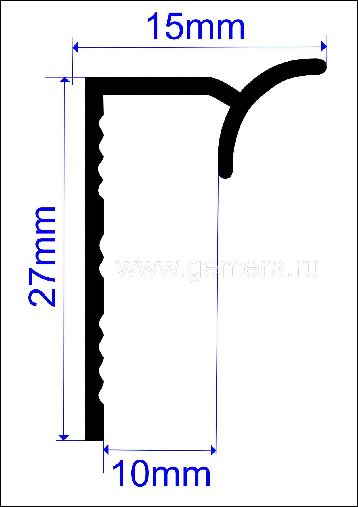 Угловая раскладка для кафельной плитки Butun AL-28-01