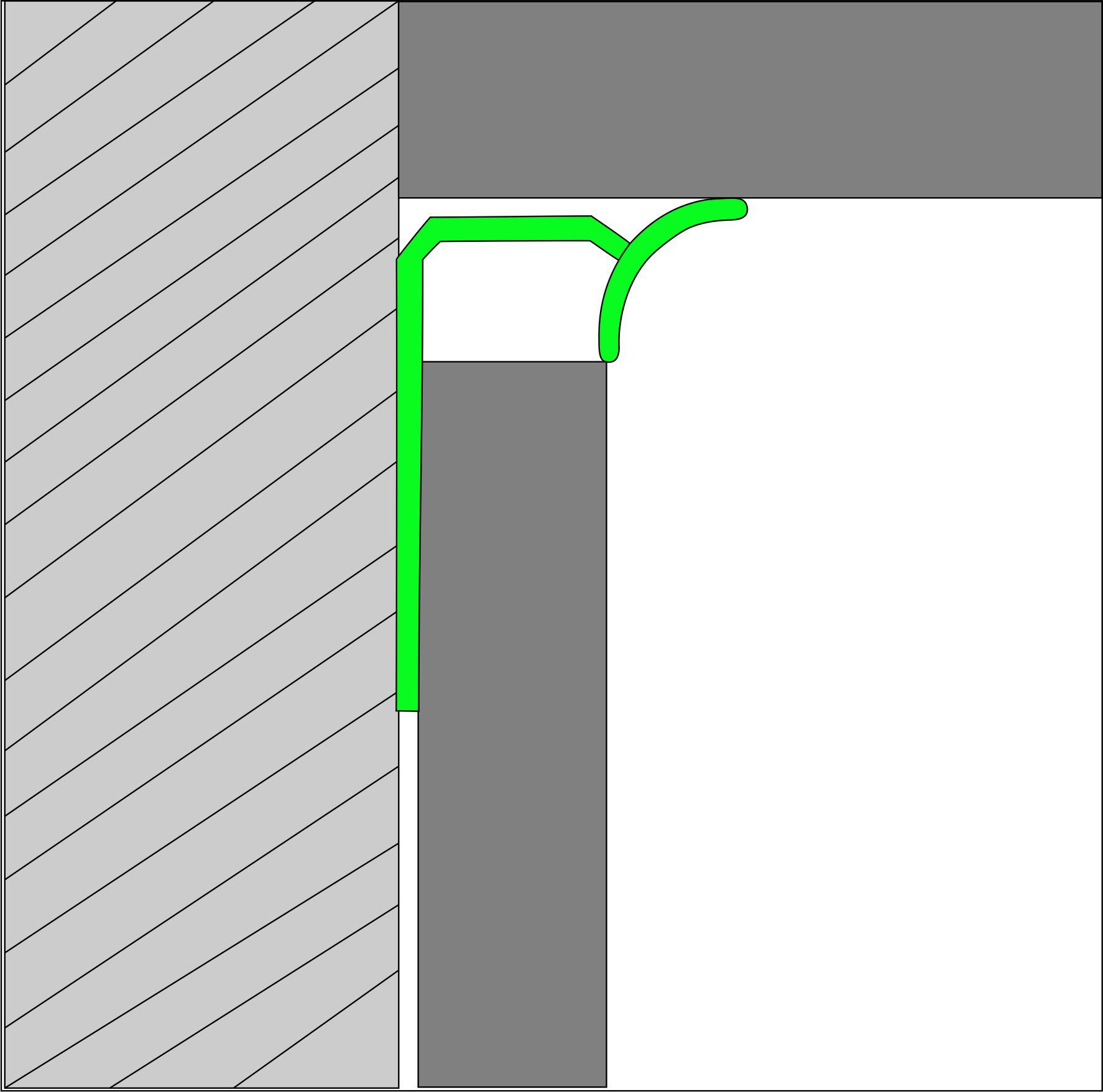 Угловая раскладка для кафельной плитки Butun AL-29-01