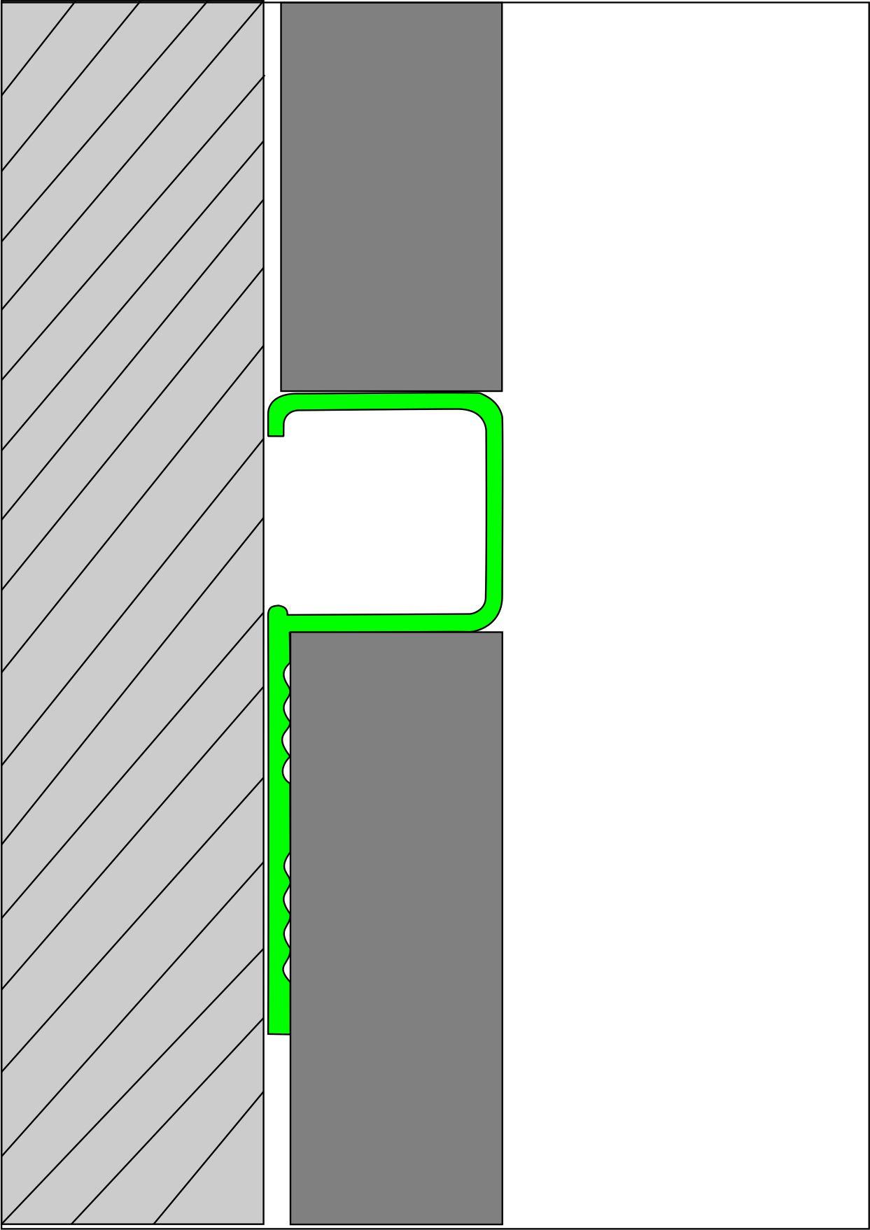 Профиль Р-образный для кафельной плитки внешний Butun AL-32-02