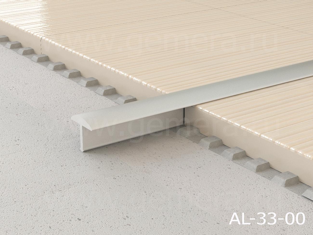 Т-профиль закругленный алюминиевый Butun AL-33-00