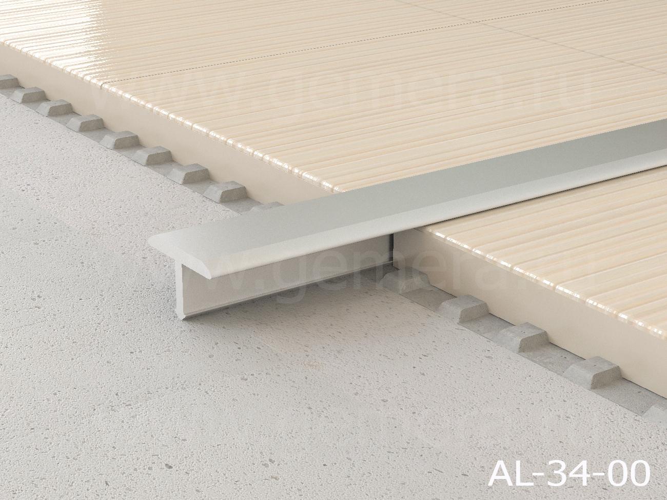 Т-профиль плоский алюминиевый Butun AL-34-00