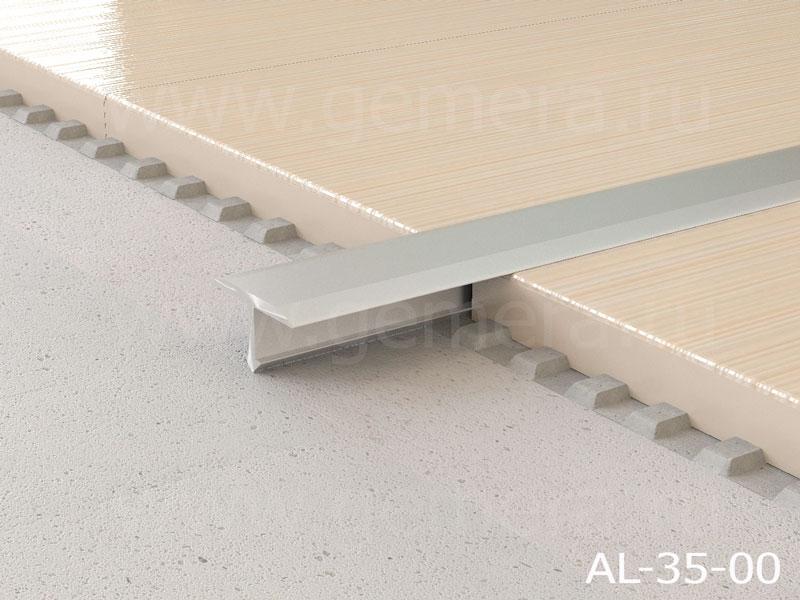 Т-профиль плоский алюминиевый Butun AL-35-00