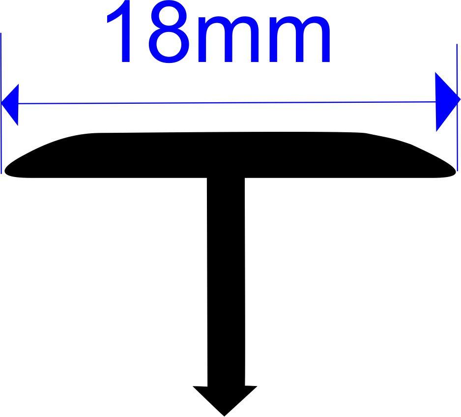 Т-профиль плоский алюминиевый Butun AL-36-06