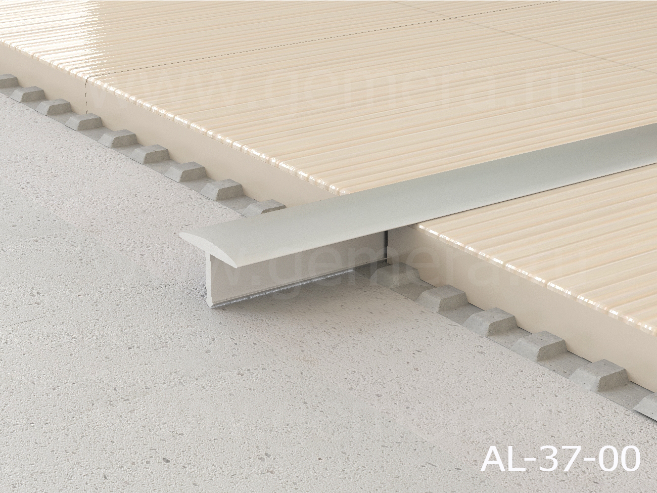 Т-профиль полукруглый алюминиевый Butun AL-37-00