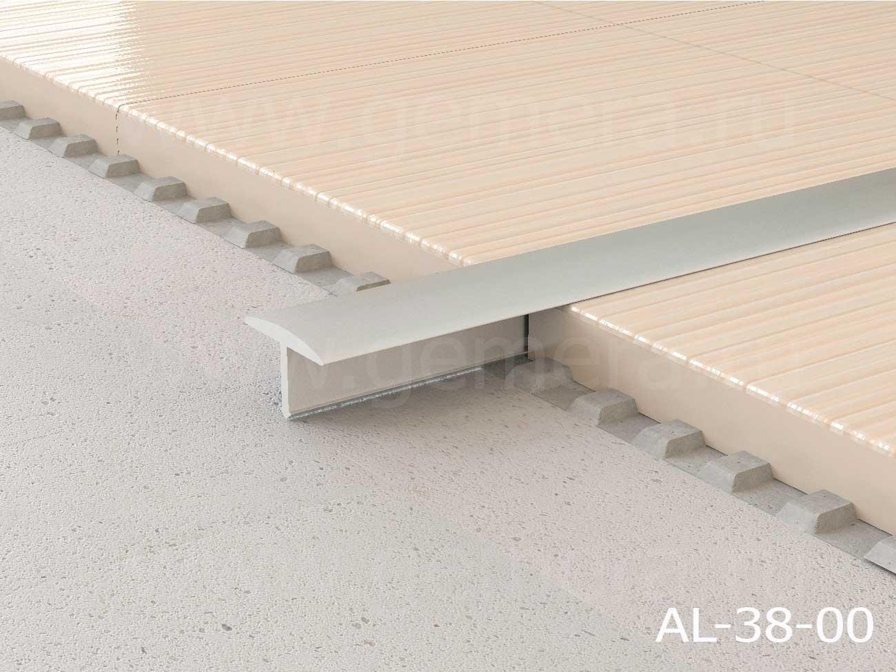 Т-профиль полукруглый алюминиевый Butun AL-38-02