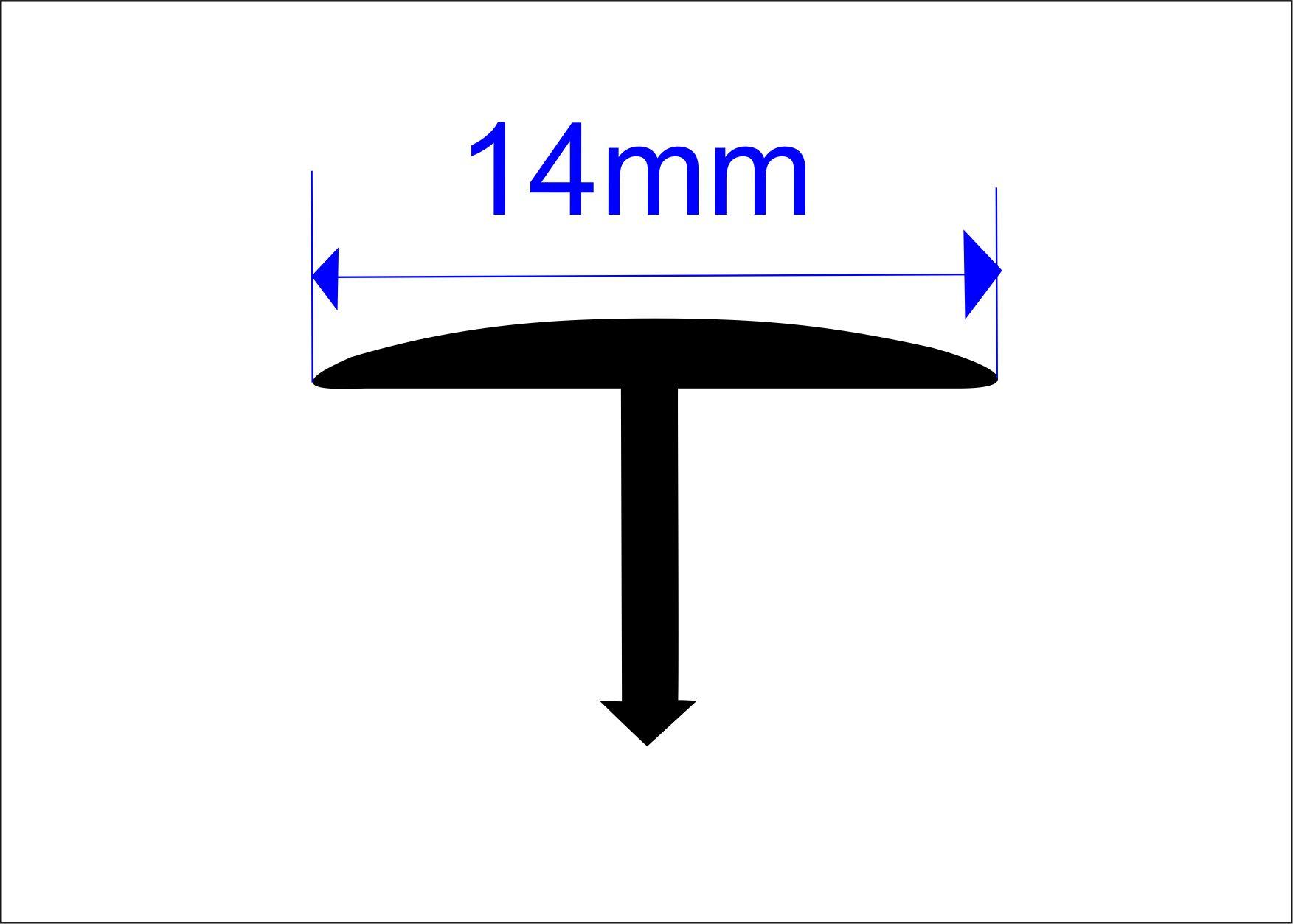 Т-профиль полукруглый алюминиевый Butun AL-40-03