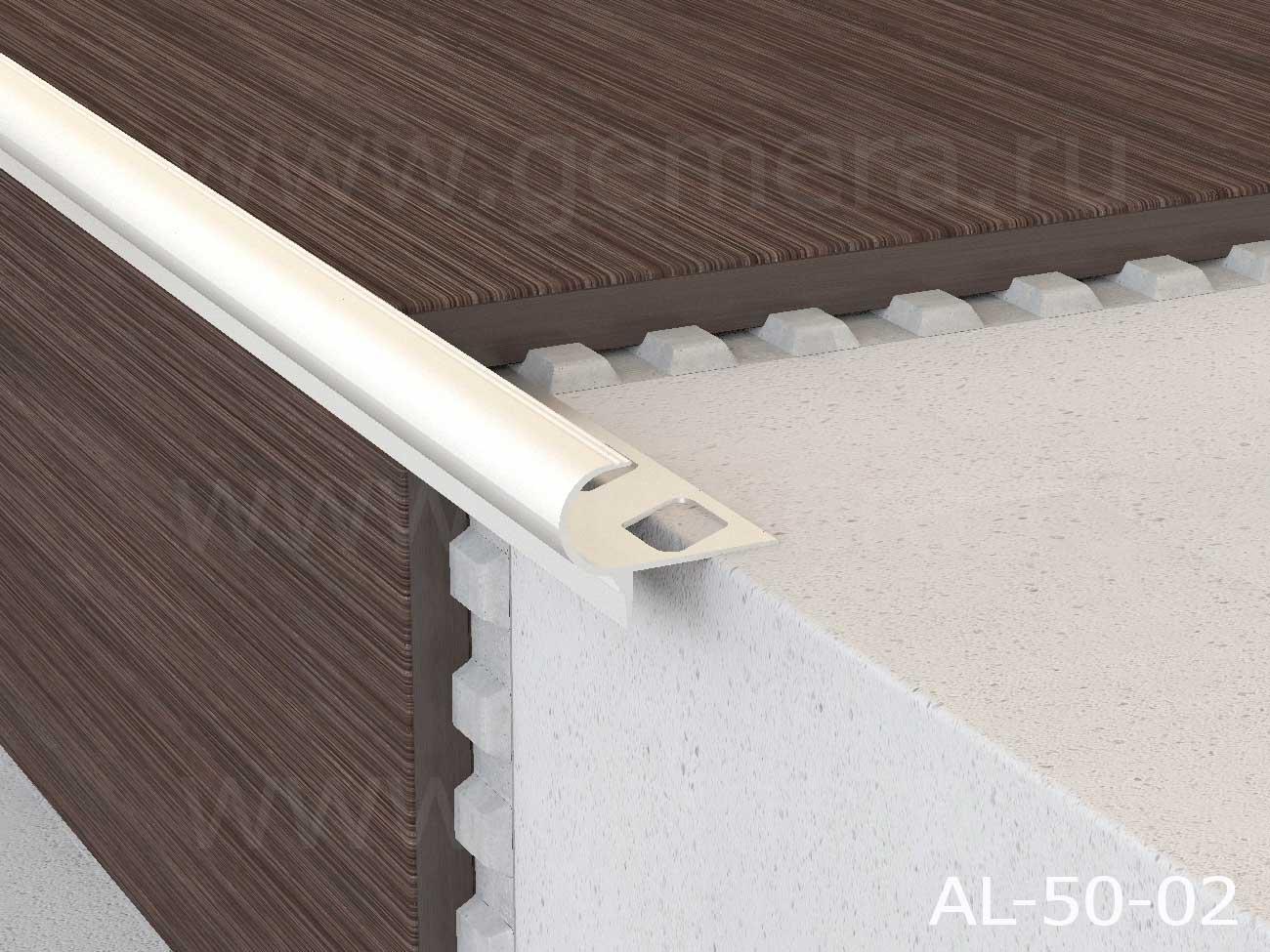 Профиль алюминиевый полукруглый Butun AL-50-02