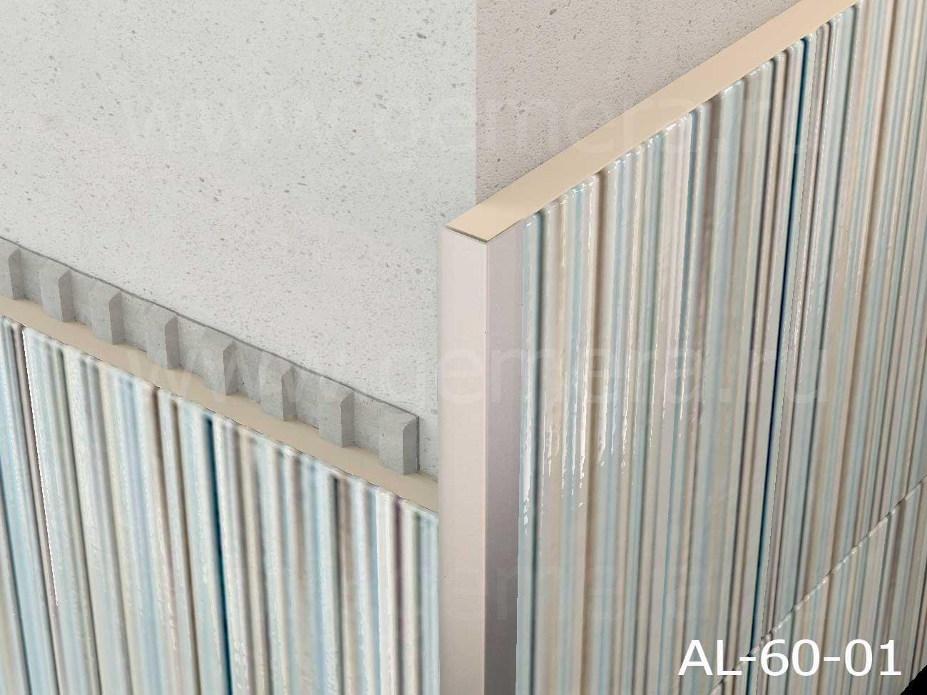 Уголок алюминиевый защитный Butun AL-60-01