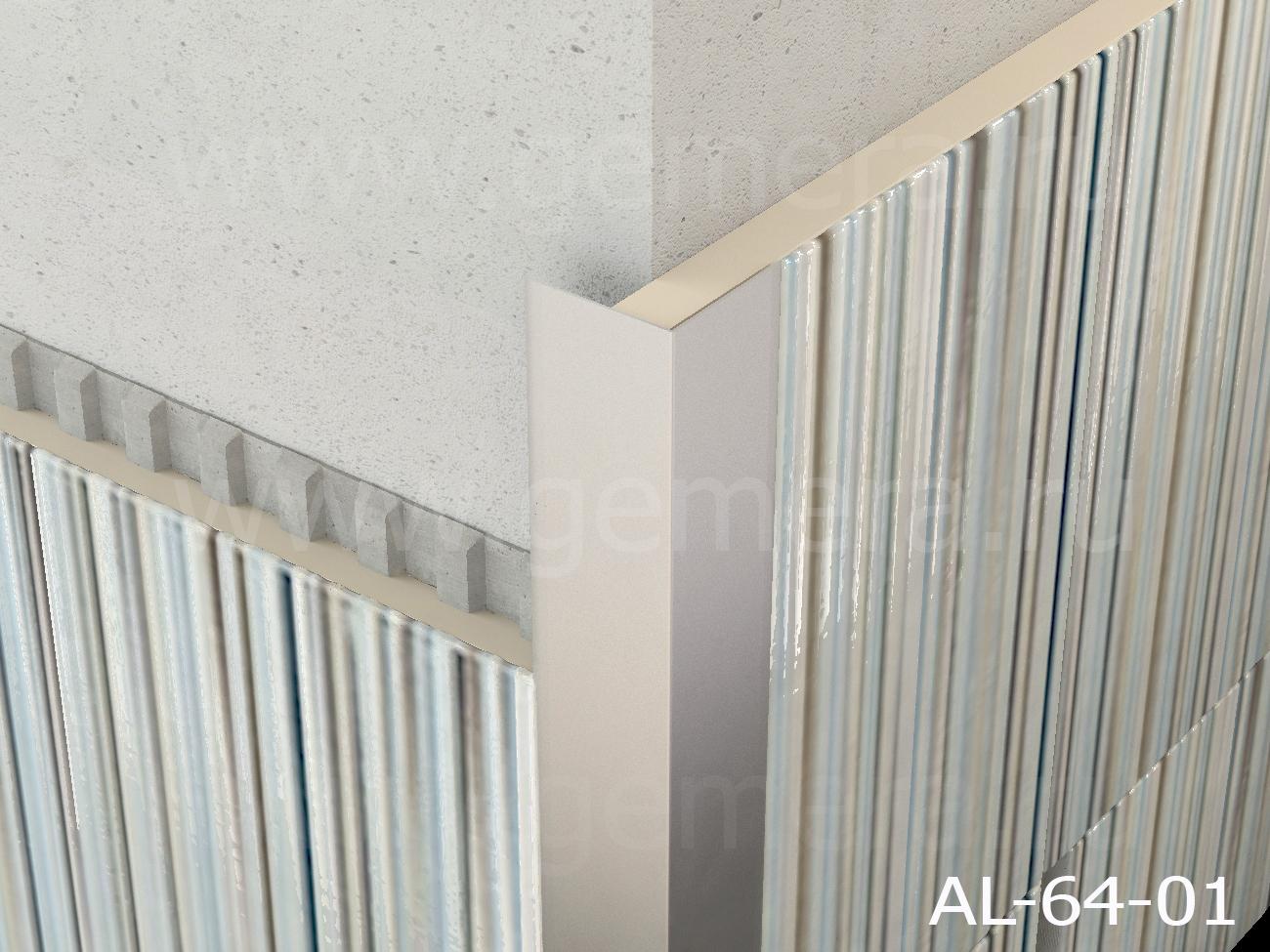 Уголок алюминиевый защитный Butun AL-64-01