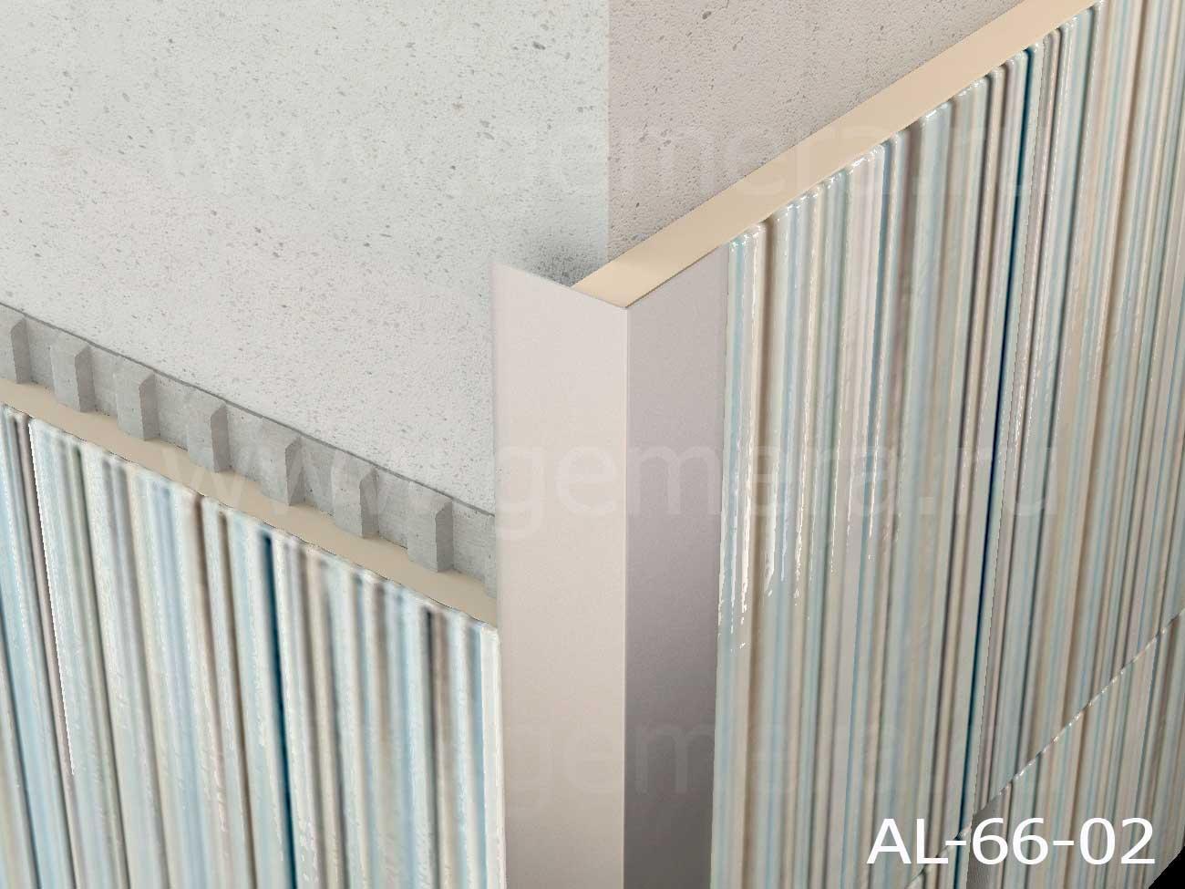 Уголок алюминиевый защитный Butun AL-66-02