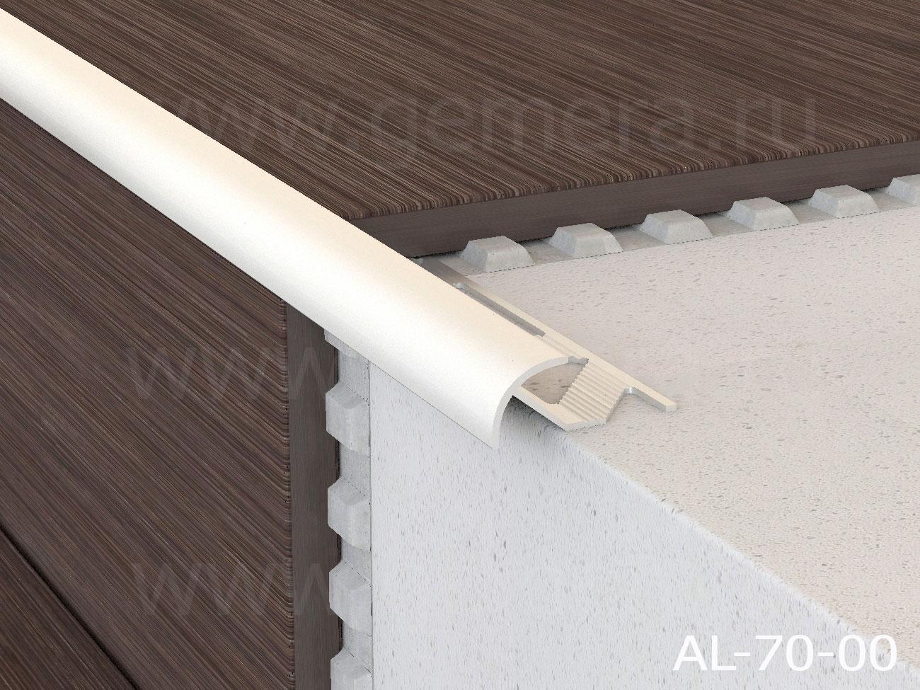 Профиль под плитку для наружных углов Butun AL-70-00