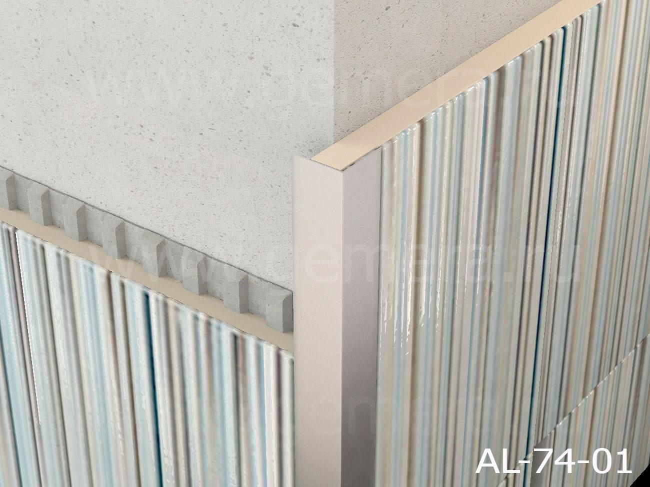 Уголок алюминиевый защитный Butun AL-74-01