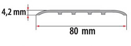 Порог(наличник) алюминиевый для пола Fezard AL-С80