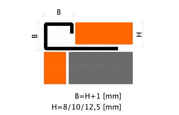Угловая раскладка для кафельной плитки Fezard ST-PJ12
