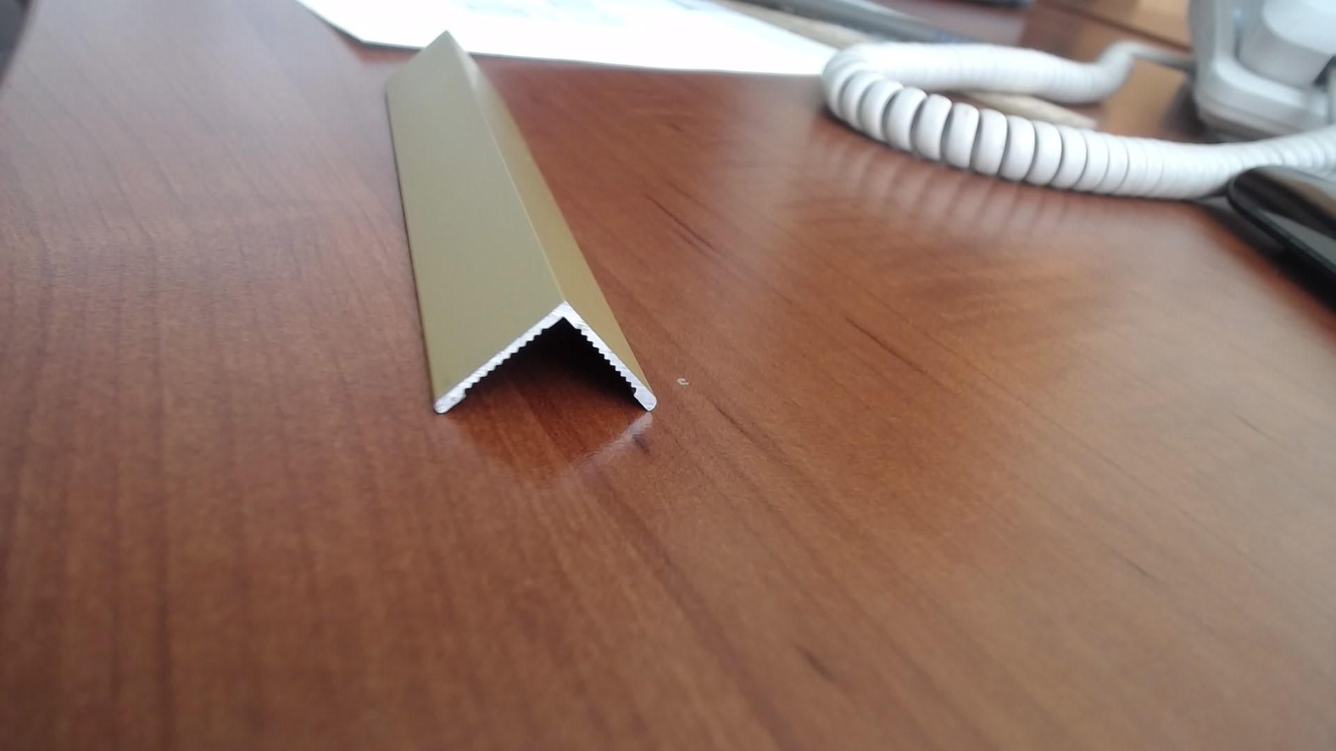 Уголок алюминиевый анодированный Fezard AL-V