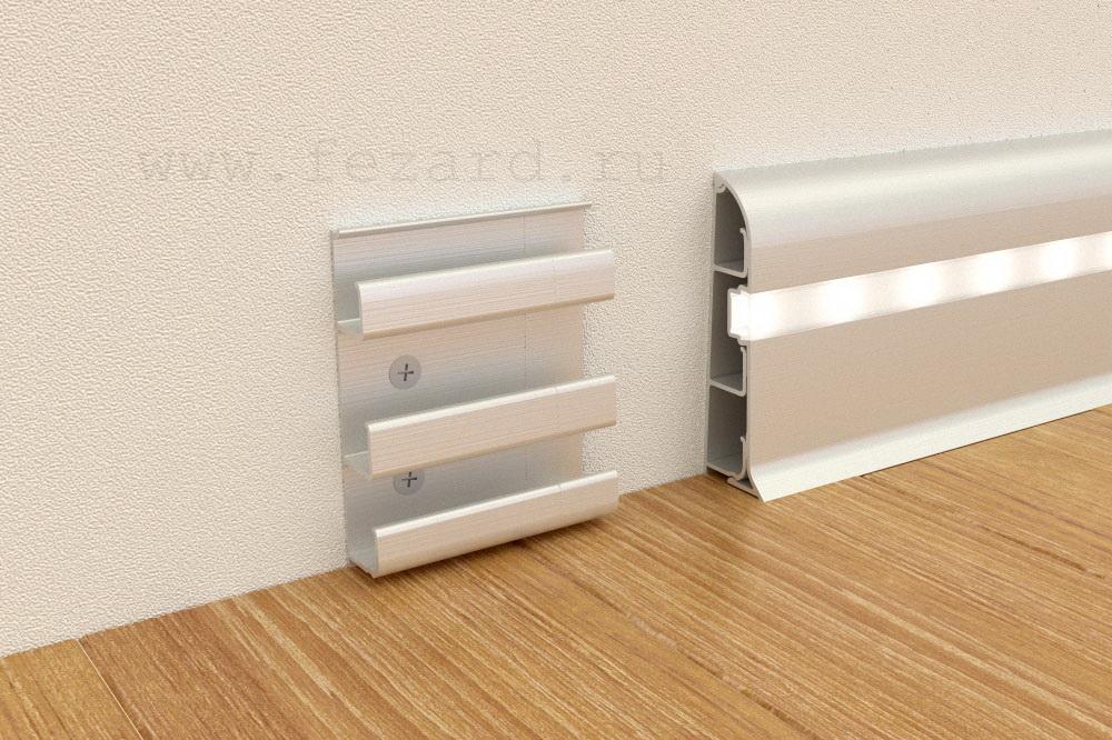 Алюминиевый плинтус Fezard ALP-C82-LED