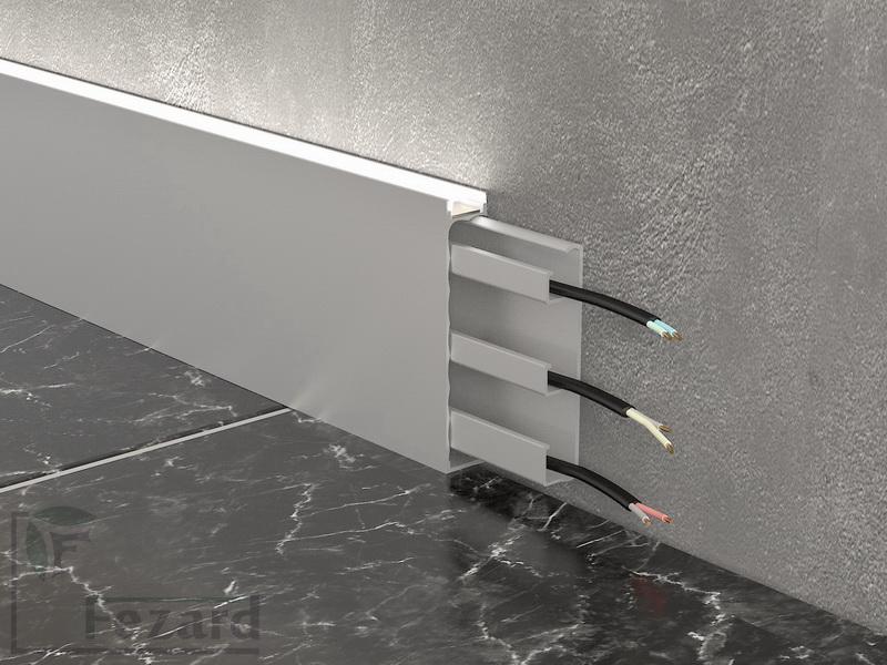Алюминиевый плинтус Fezard ALP-G80-LA