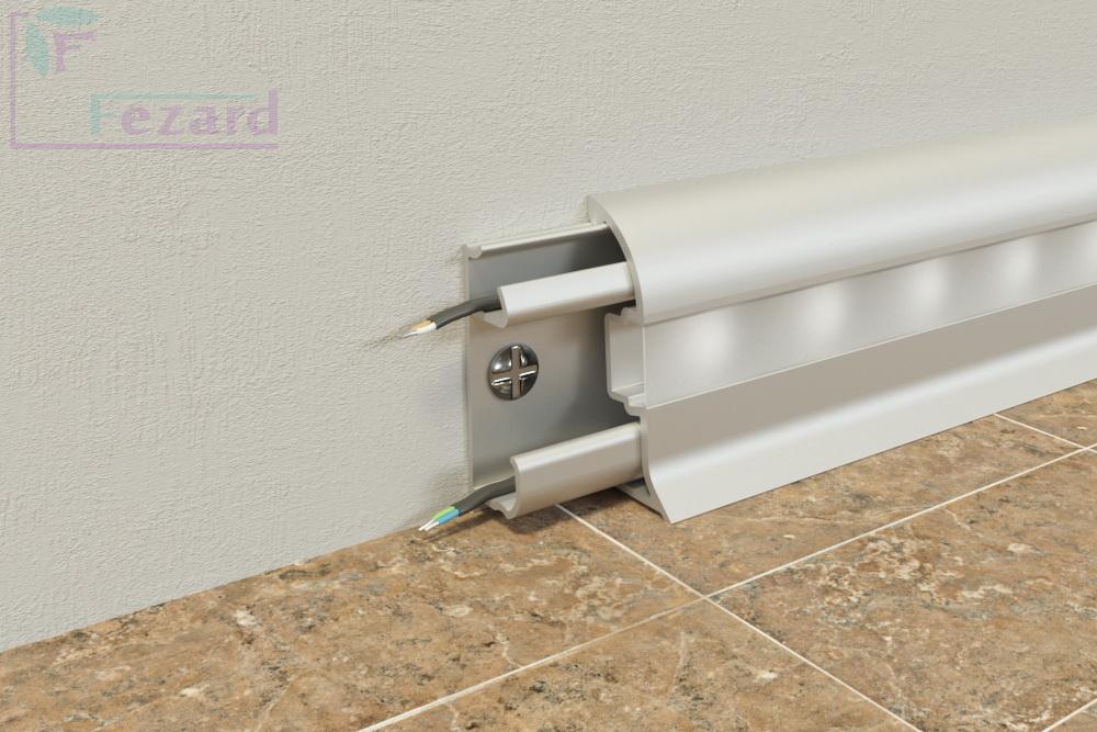 Алюминиевый плинтус Fezard ALP-C43-LED
