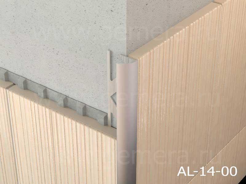 Угловая раскладка для кафельной плитки внешняя С-образный Butun AL-14-00