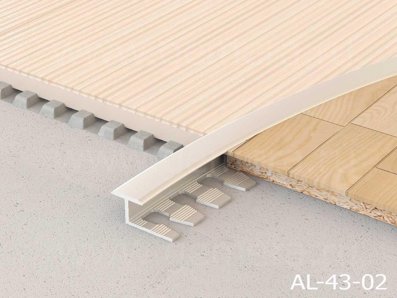Т-профиль гибкий закругленный алюминиевый Butun AL-43-00