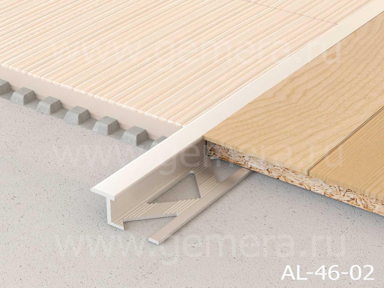Z-профиль плоский алюминиевый Butun AL-46-02