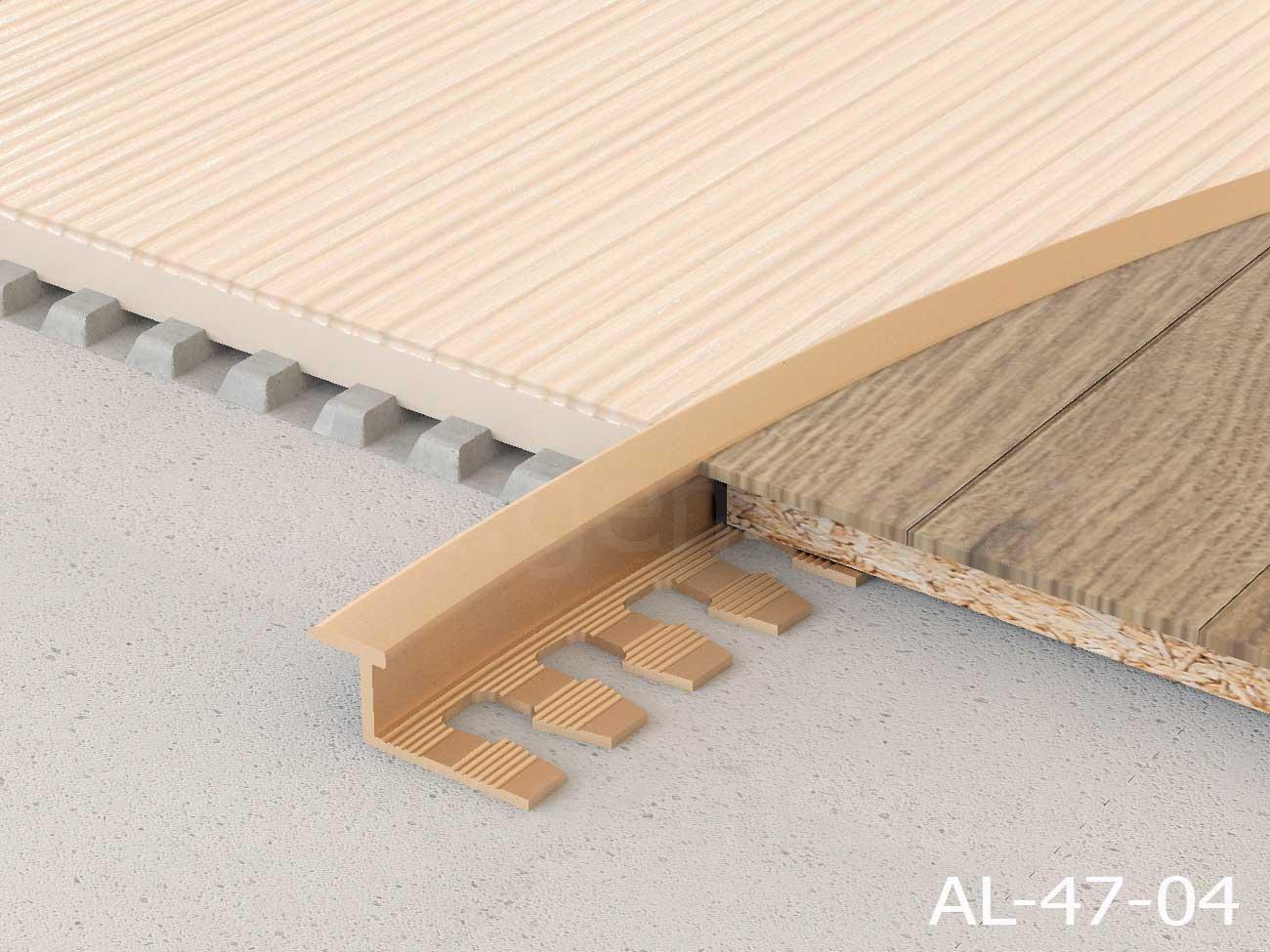 Z-профиль гибкий алюминиевый Butun AL-47-04