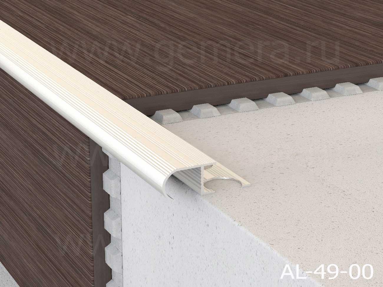 Профиль алюминиевый овальный Butun AL-49-00