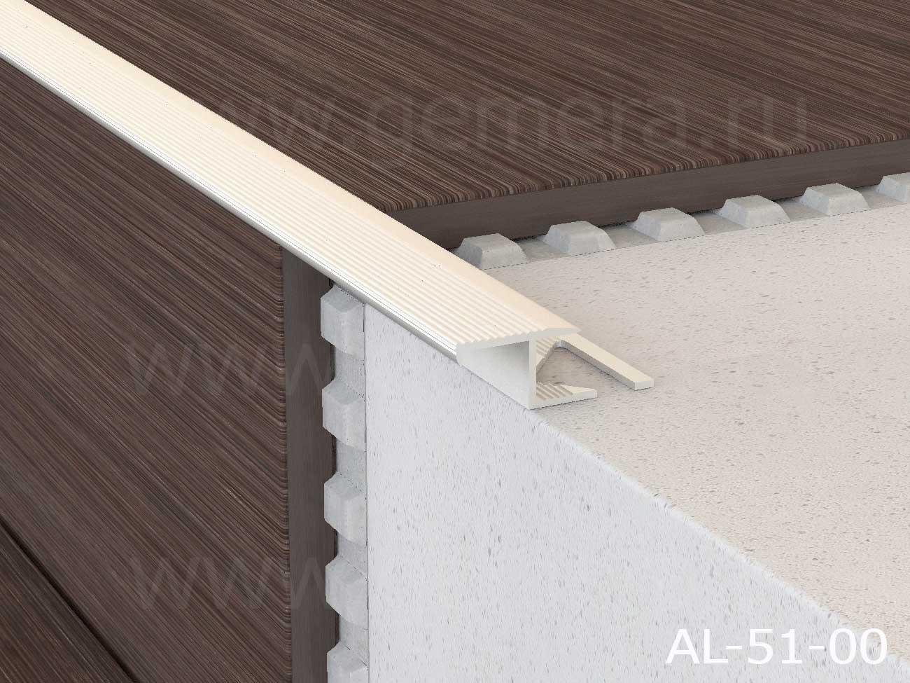 Профиль лестничный алюминиевый  Butun AL-51-02