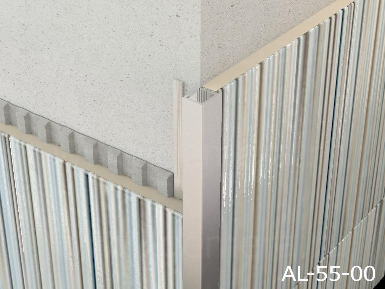 Профиль для кафельной плитки внутренний Butun AL-55-00