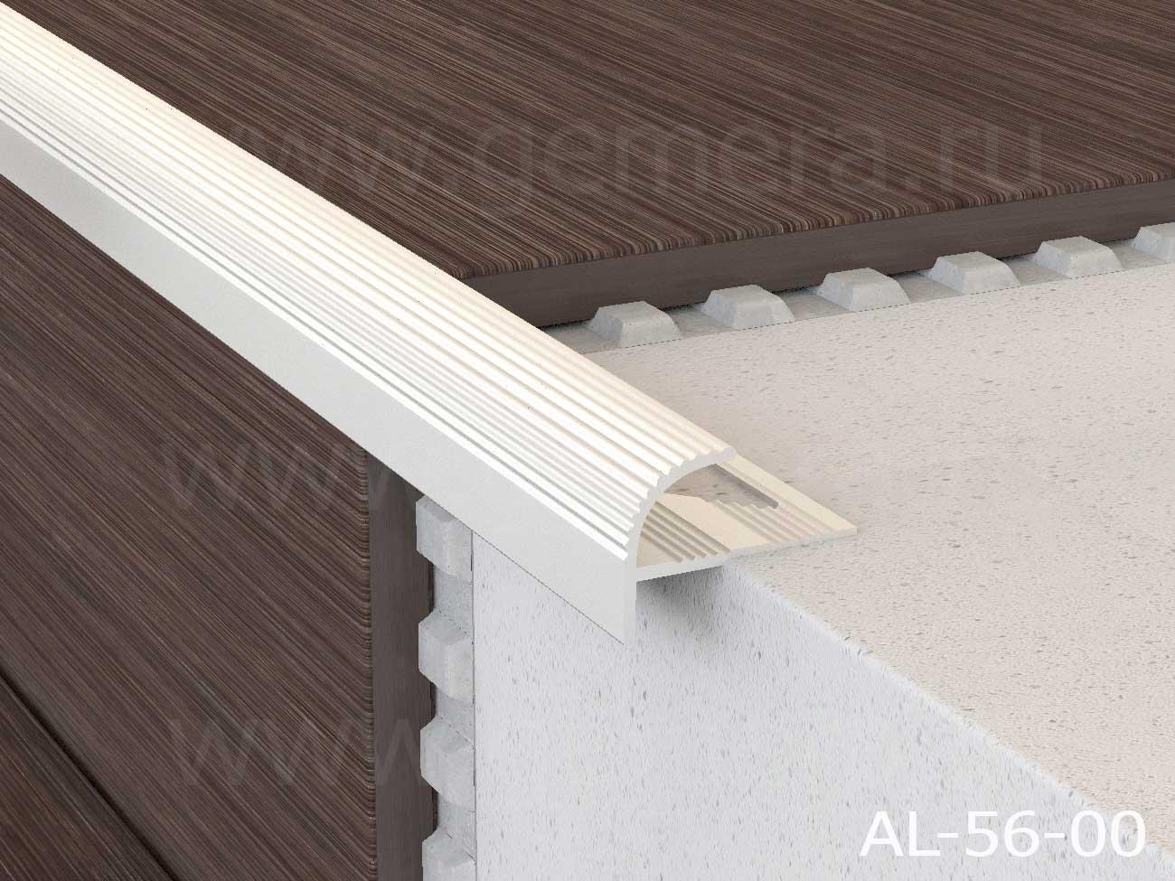 Профиль алюминиевый полукруглый Butun AL-56-00