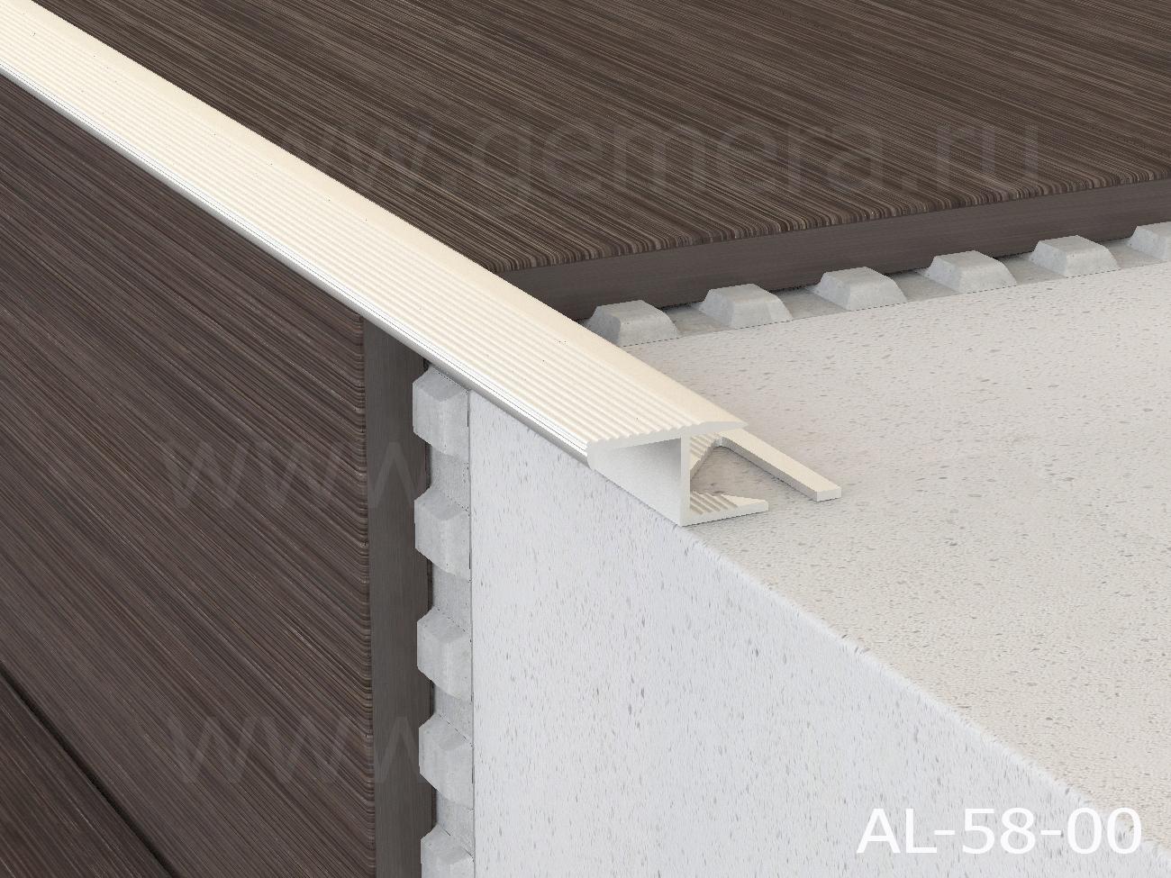Профиль лестничный алюминиевый  Butun AL-58-02
