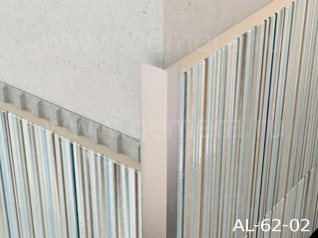 Уголок алюминиевый защитный Butun AL-62-02