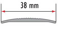 Порог алюминиевый для пола Fezard AL-СR38