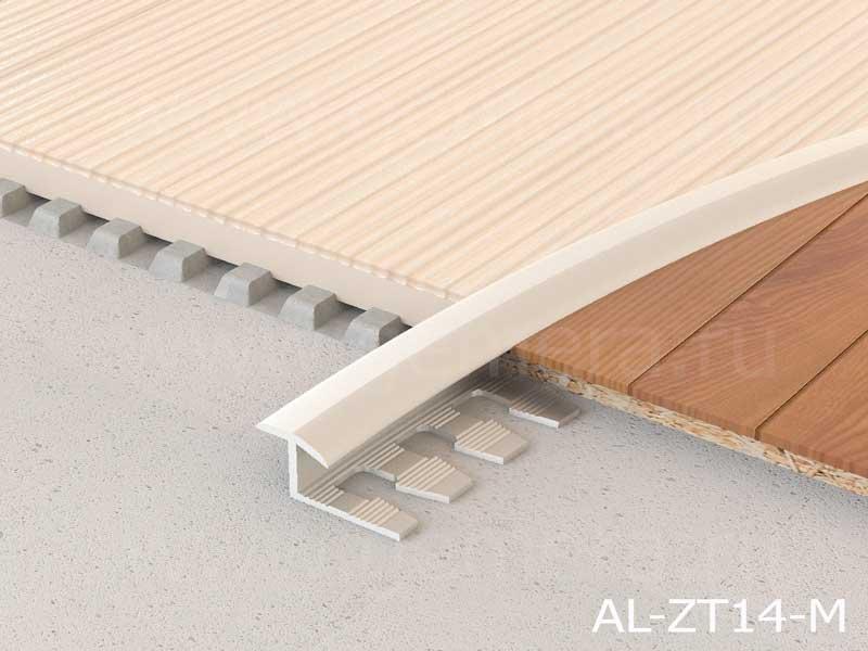 Т-профиль гибкий ламинированный с перепадом Butun AL-ZT14-M
