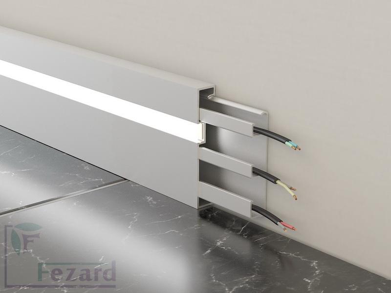 Алюминиевый плинтус Fezard ALP-G80-LF
