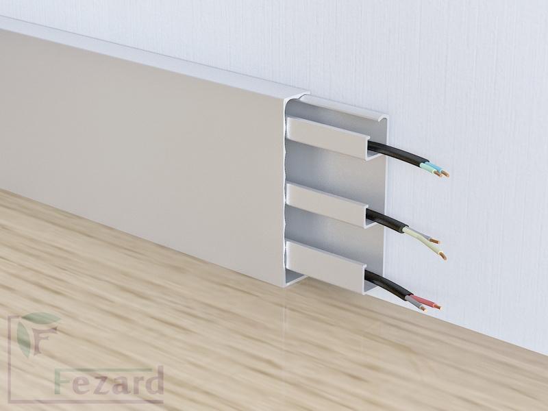 Алюминиевый плинтус Fezard ALP-G80